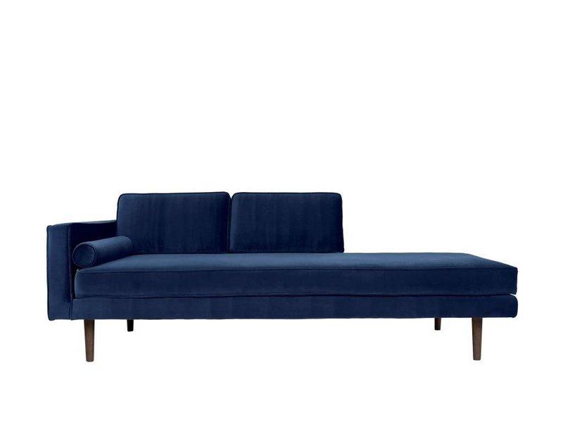 Broste Copenhagen Chaise lounge bænk blå W88XL200XH74CM