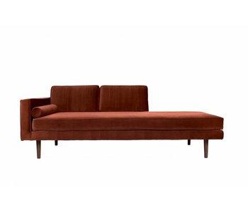 Broste Copenhagen Chaise lounge bænk karamel brun