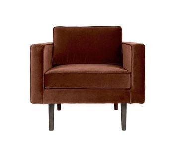 Broste Copenhagen Viento sillón marrón caramelo