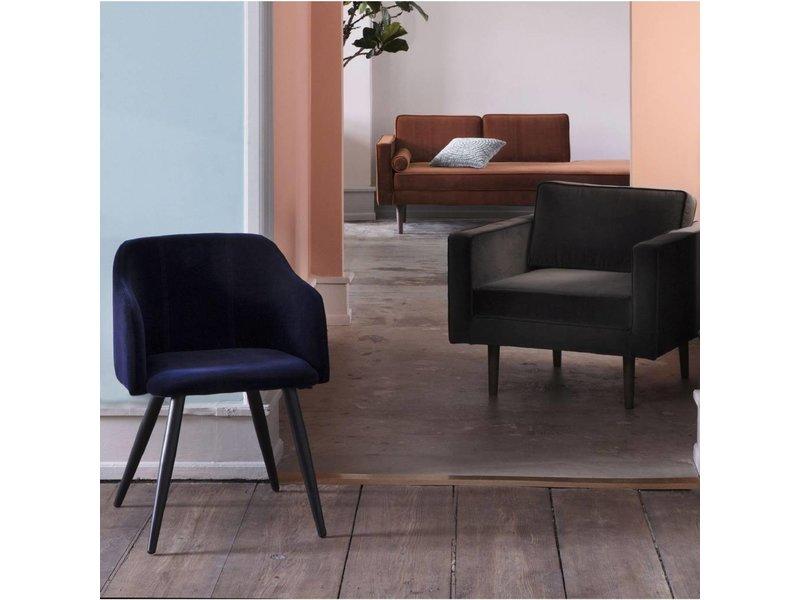Broste Copenhagen Chaise lounge bænk karamel brun W88XL200XH74CM