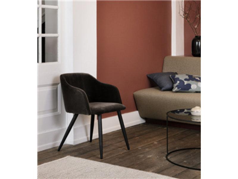 Broste Copenhagen Pernille stoel espresso W60XL53XH77CM