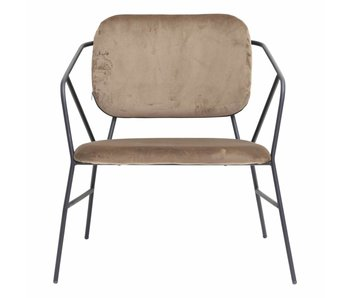 House Doctor Klever chaise métal moutarde