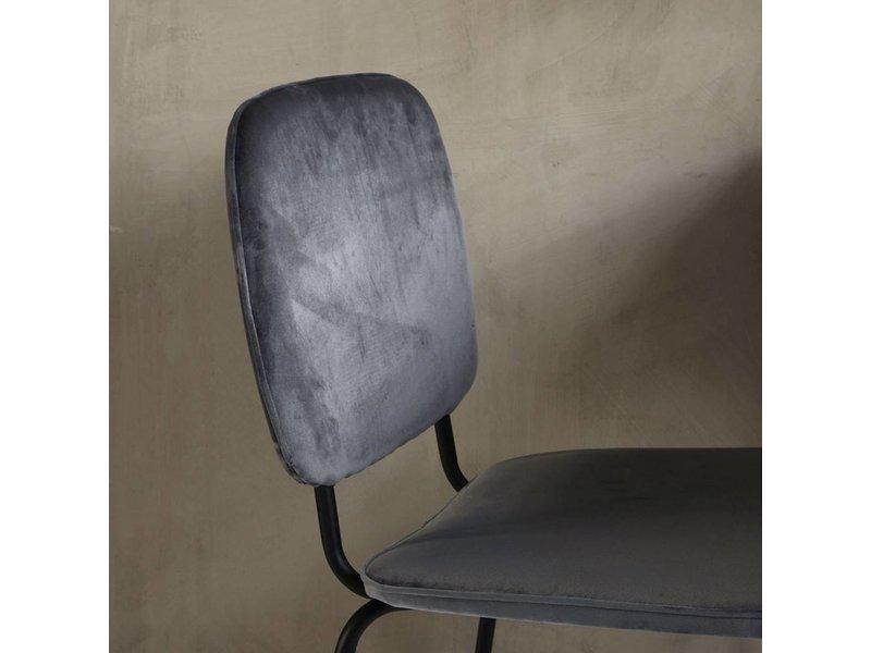 House Doctor Comma stoel metaal grijs 55,5x51x83cm