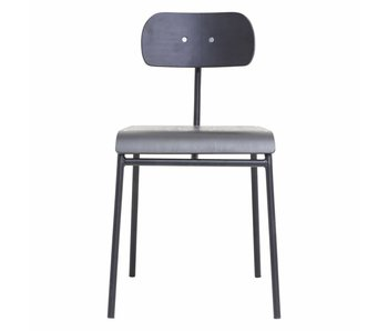 House Doctor School chair iron black