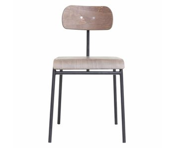 House Doctor School chair iron dark brown