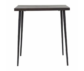 House Doctor Slated table wood black