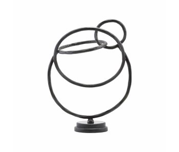House Doctor Circles sculpture black