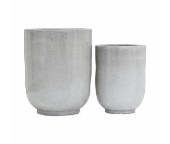 House Doctor Pho flowerpot set gray