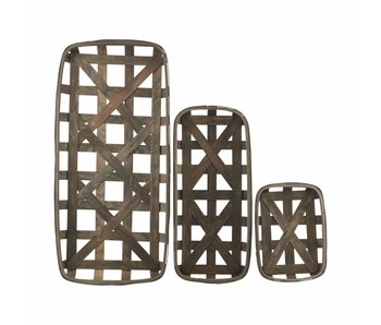 House Doctor Tray set of 3 brown
