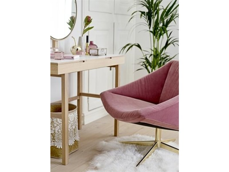 Make Up Tafel : Bloomingville phine make up tafel wit naturel hout living and co