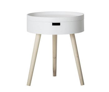 Bloomingville Side table white Ø38x47cm