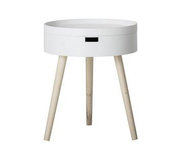 Bloomingville Table d'appoint Ø38x47cm blanc