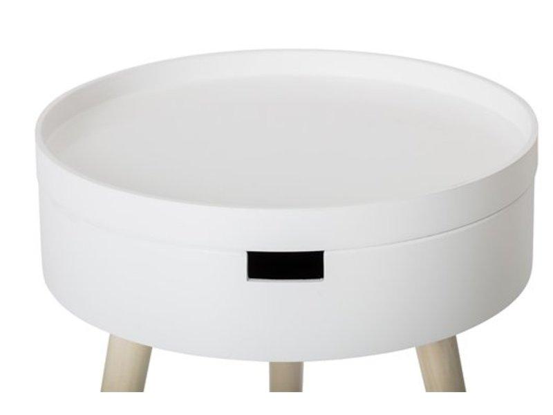 Bloomingville Lejlighedsvis bord hvid Ø38x47cm