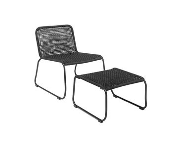 Bloomingville Lounge chair black 58x77x73cm