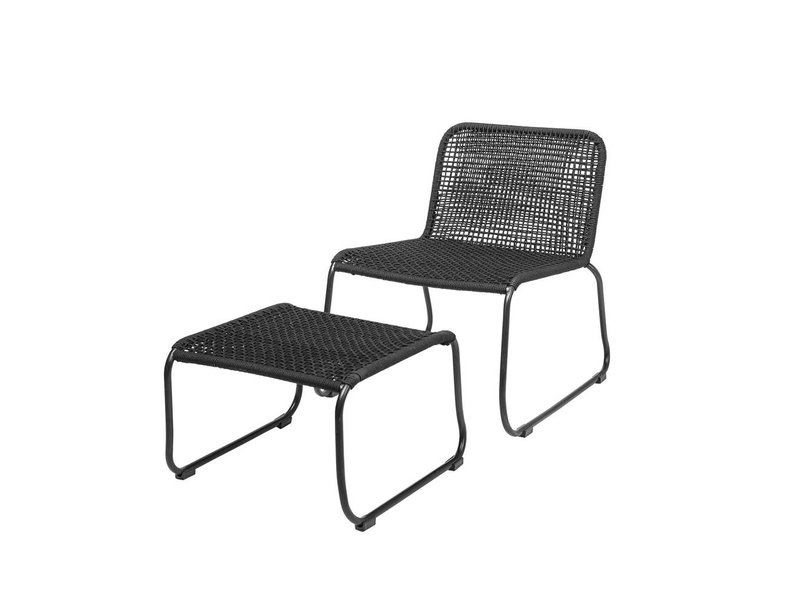Bloomingville Lounge Chair schwarz 58x77x73cm