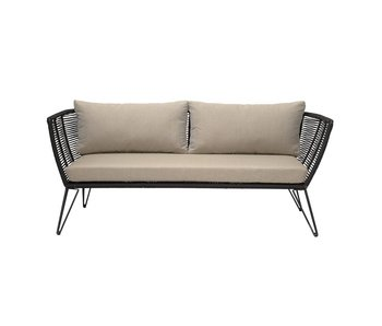 Bloomingville Sofa sort 175x72x74 cm