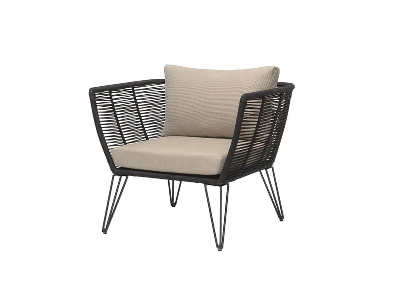 Bloomingville Lounge Chair sort 87x72x74cm