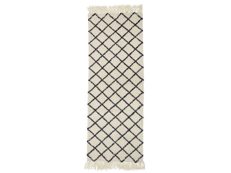 Bloomingville Vloerkleed naturel wol 200x70cm