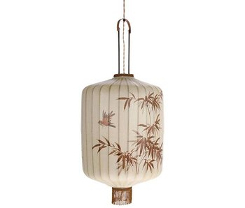 HK-Living Lantern lamp L cream 42x42x92cm