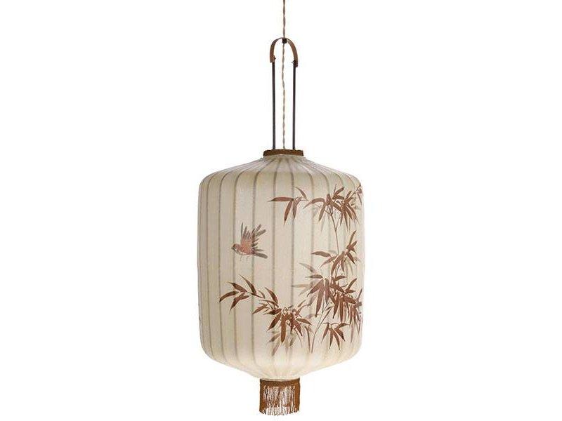 HK-Living Lanterne lampen L Creme 42x42x92cm