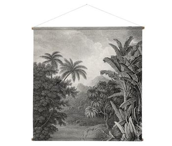 HK-Living Jungle Wandkarte 154x154cm