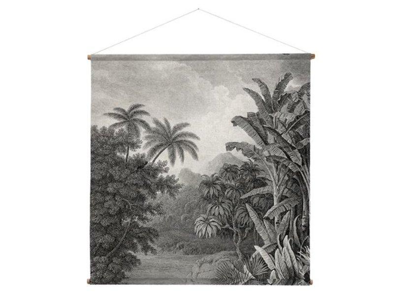 HK-Living Jungle wandkaart 154x154cm