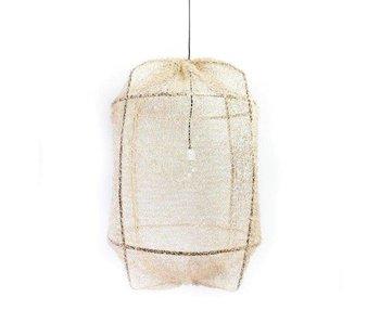 Ay Illuminate Hanging lamp Z1 black sisal net tea dyed ø67x100cm
