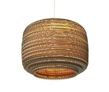 Graypants Ausi12 hanging lamp brown cardboard Ø28x20cm