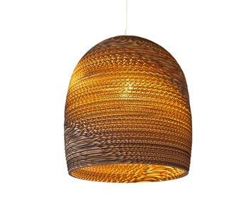 Graypants Bell10 hanglamp bruin karton Ø27x28cm