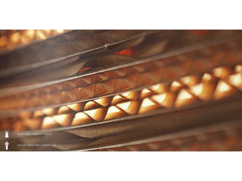 Graypants Disc16 vedhæng lys brun pap Ø43x19cm