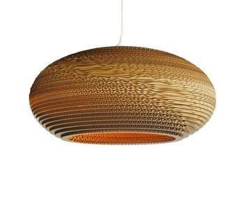 Graypants Disc20 hanging lamp brown cardboard Ø50x23cm