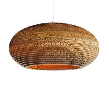 Graypants Disc24 hanging lamp brown cardboard Ø61x26cm