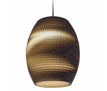 Graypants Oliv hanging lamp brown cardboard Ø19x22cm