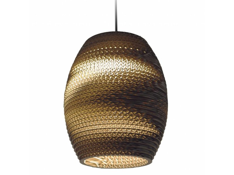 Graypants Oliv vedhæng lys brun pap Ø19x22cm