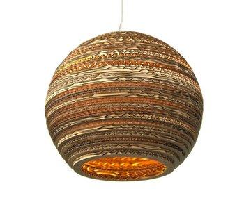 Graypants Moon10 hanging lamp brown cardboard Ø26x22cm