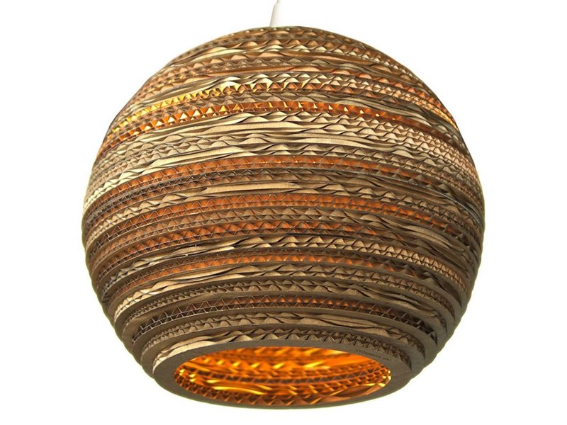 Graypants Moon18 hanglamp bruin karton Ø45x40cm