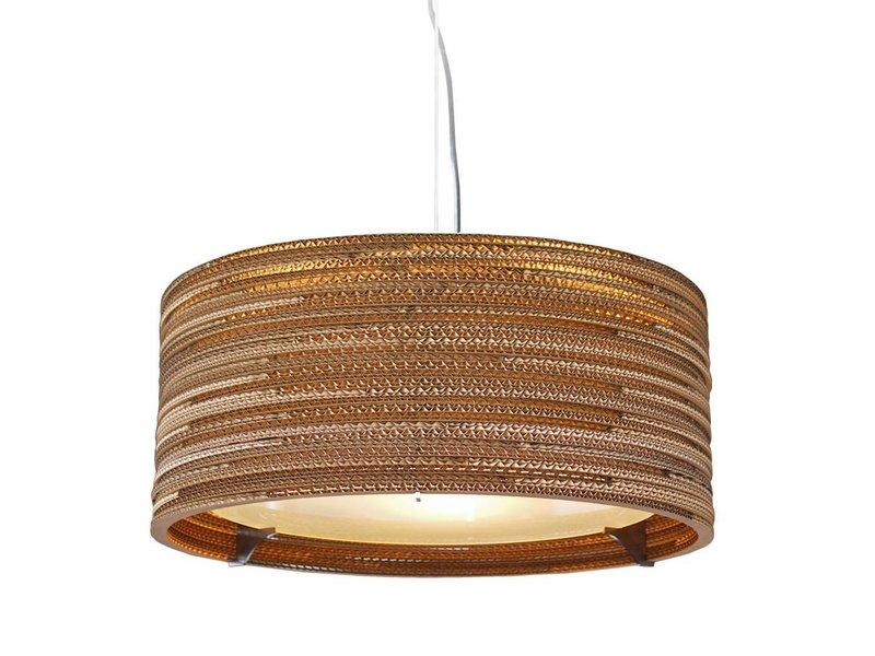 Graypants Drum18 hanglamp bruin karton Ø45x21cm