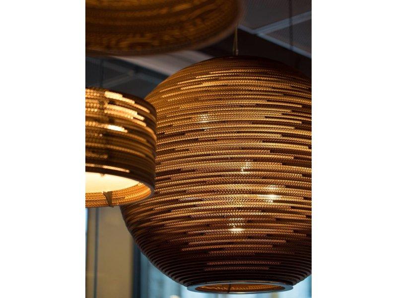 Graypants Sun48 hanglamp bruin karton Ø128x108cm