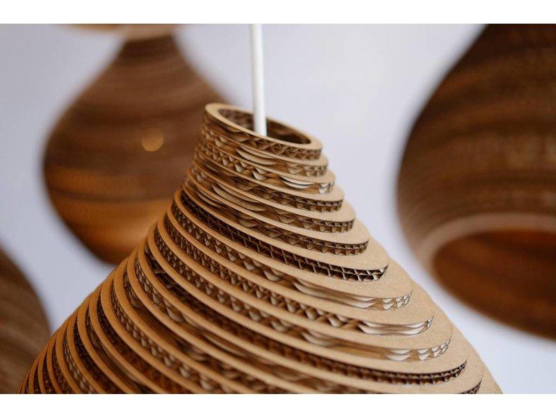 Graypants Hive9 hanglamp bruin karton Ø23x28cm