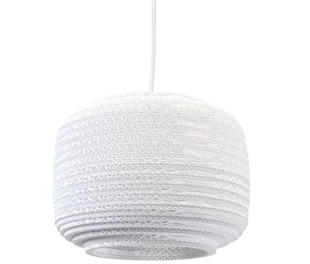 Graypants Ausi12 hanging lamp white cardboard Ø28x20cm