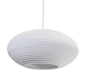 Graypants Disc16 hanging lamp white cardboard Ø43x19cm