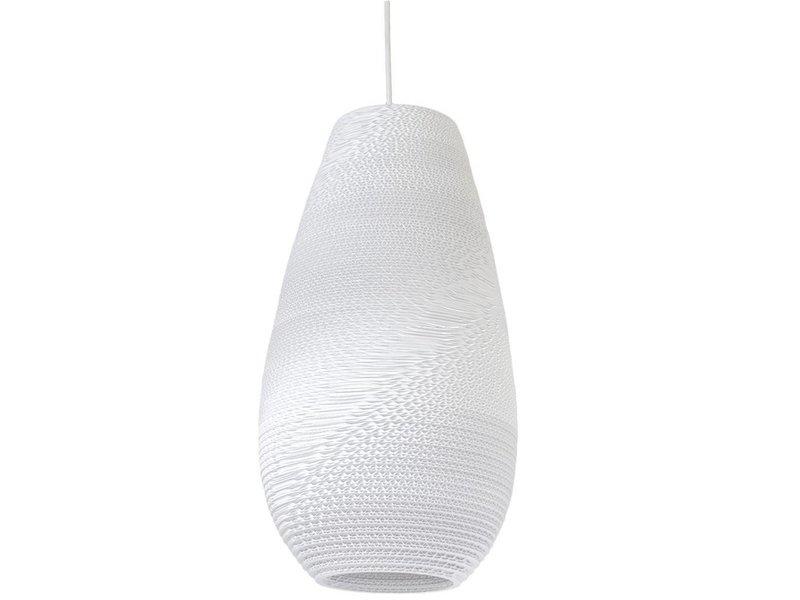 Graypants Drop18 hanglamp wit karton Ø25x45cm
