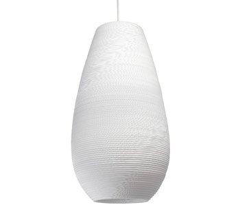 Graypants Drop26 Lampe weiße Pappe Ø36x65cm
