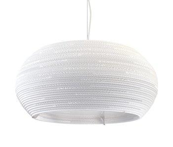 Graypants Ohio24 hanging lamp white cardboard Ø61x24cm