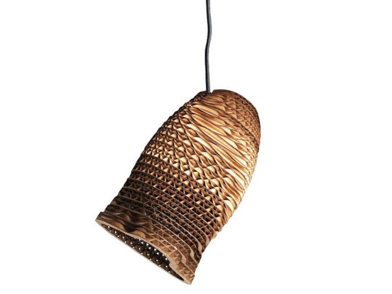 Graypants Moa enkelt vedhæng lys brun Ø10x15cm