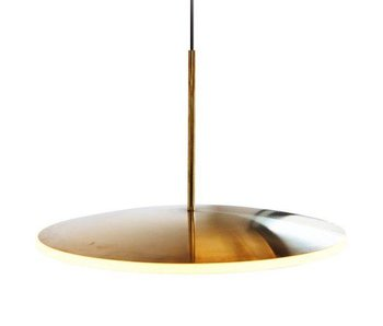 Graypants Dish17h hanging lamp brass Ø42x29cm
