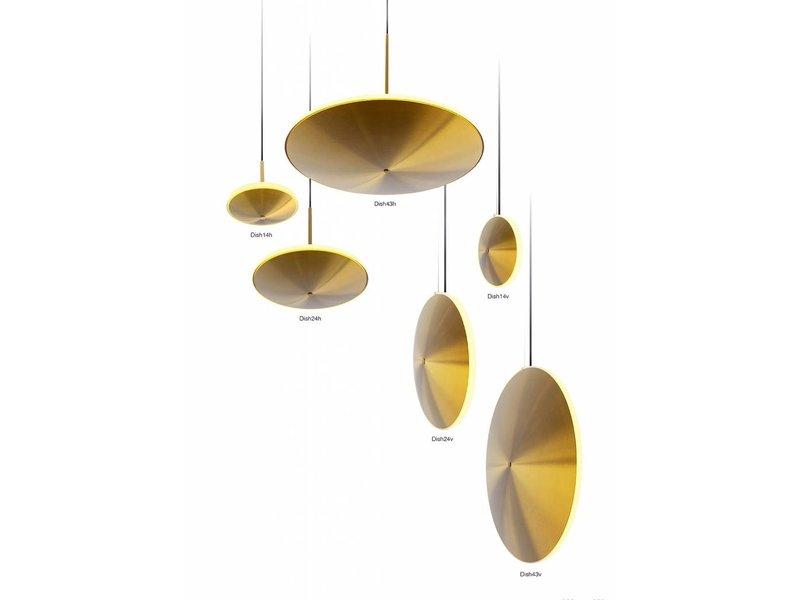Graypants Dish10v hanglamp messing Ø24x6cm