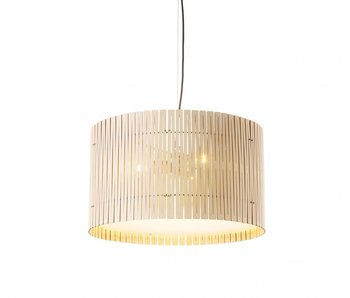 Graypants D6 Drum pendant light whitewash Ø55x32cm