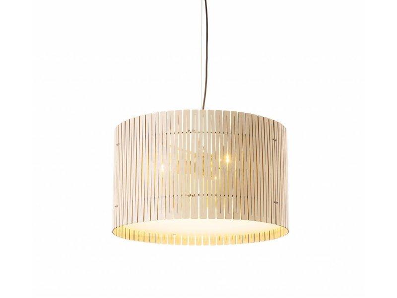 Graypants D6 Drum hanglamp whitewash Ø55x32cm