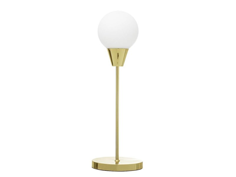 Bloomingville Tafellamp goud glas  Ø19xH55 cm